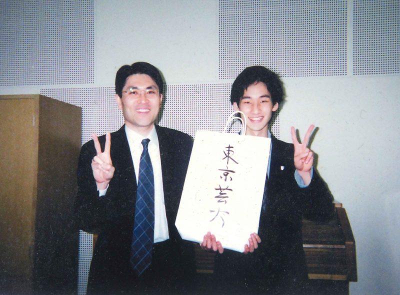 藝大受験合格の報告に恩師伊藤先生のもとへ。